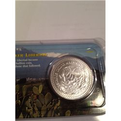 .999 PURE SILVER ONE TROY OZ MEXICO LIBERTAD