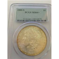 1880-S Morgan Dollar PCGS MS-64+ (May regrade as a MS-65)