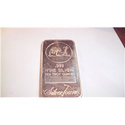 10 Oz .999 PURE SILVER BAR