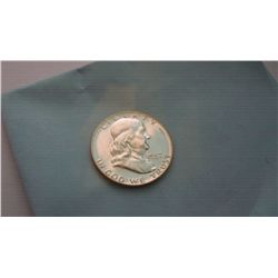 1957 MS-67 BU FRANKLIN SILVER DOLLAR