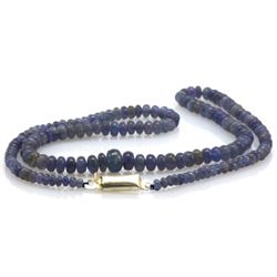 Natural Tanzanite Gradual Beads Necklace 67.00 ctw