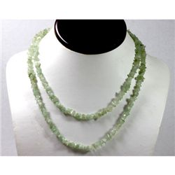 172.09 ctw Natural Aqua Un-cut bead Necklace