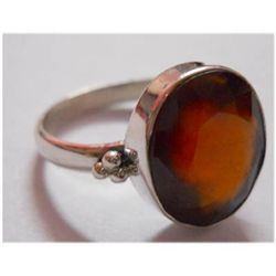 Natural 20.95 ctw Hazonight Garnet Ring 925 Sterling