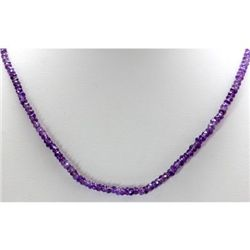 Natural Amethyst Single Row Necklace with clasp