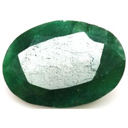 African Emerald Loose Gems 34.54ctw Oval Cut
