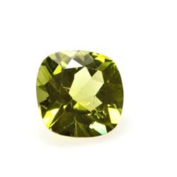 Peridot 1.96 ctw Loose Gems 8x8mm Cushion  Cut