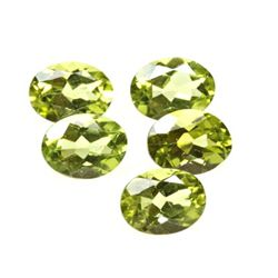 Peridot 6.3 ctw Loose Gems 8x6mm Oval Cut