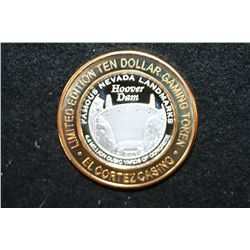 El Cortez Hotel & Casino Limited Edition Two-Tone $10 Gaming Token; Famous Nevada Landmarks-Hoover D