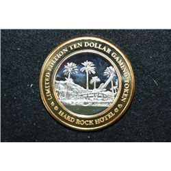 Hard Rock Hotel & Casino Limited Edition Two-Tone $10 Gaming Token, .999 Fine