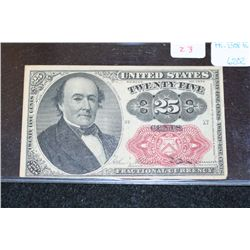 1874 United States 25 Cents Fractional Currency