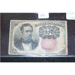 1874 United States 10 Cents Fractional Currency