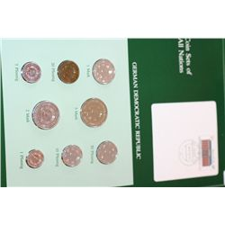 German Democratic Republic; Coin Sets of All Nations W/Postal Stamp Dated 1987