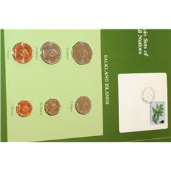 Falkland Islands; Coin Sets of All Nations W/Postal Stamp Dated 1985