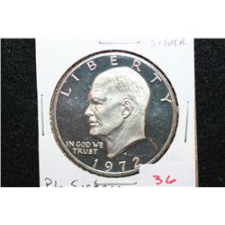 1972-S Eisenhower $1; Silver, P.L. Surface