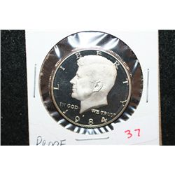 1984-S Kennedy Half Dollar; Proof