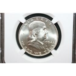 1954-D Ben Franklin Half Dollar, NGC Graded MS65 FBL
