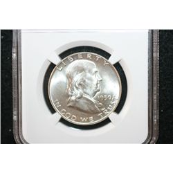 1950 Ben Franklin Half Dollar, NGC Graded MS64 FBL