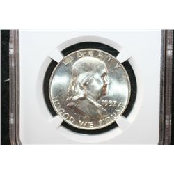 1957-D Ben Franklin Half Dollar, NGC Graded MS64 FBL