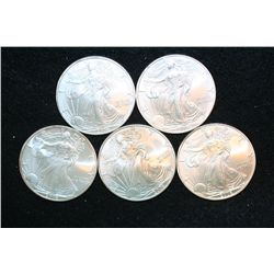 2006 Silver Eagle $1, Lot of 5