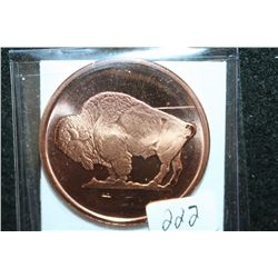 2011 Buffalo Copper Round, .999 Fine Copper 1 Oz.
