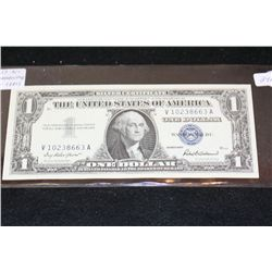 1957 US Silver Certificate $1, Blue Seal, 4 Consecutive Numbers, Lot of 4