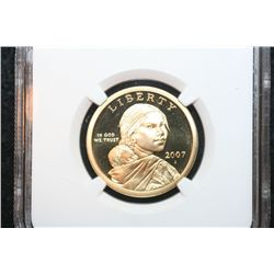 2007-S Sacagawea $1, NGC Graded PF69 Ultra Cameo