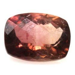 Natural 2.54ctw Bi-Color Tourmaline Cushion Stone