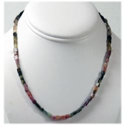 Natural 51.31ctw Tourmaline Beads Necklace