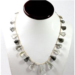 128.05 ctw Natural Smokie Quartz Bead Necklace