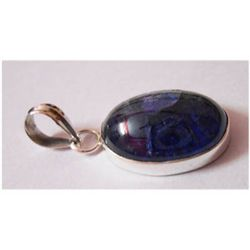 Natural 30.05 ctw Tanzanite Oval Pendant 925 Sterling