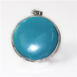Natural 104.64 ct Froza Round Pendant .925 Sterling