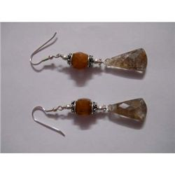 45 ct Semi Precious Stone Earring .925 Sterling Silver