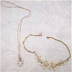 Two Goldtone Necklaces.