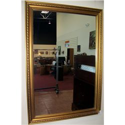Gold Painted Framed Mirror.