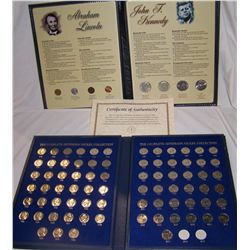 (2X$) ABRAHAM LINCOLN/ KENNEDY COLLECTION -COMPLETE JEFFERSON NICKEL COLLECTION