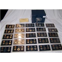 25 YEAR COLLECTION OF U.S MINT COIN SETS- INCLUDES SILVER 1969-1993