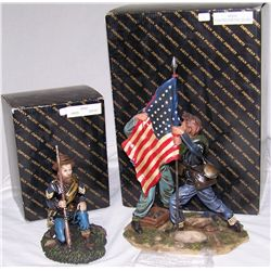Two Civil War Figurines.