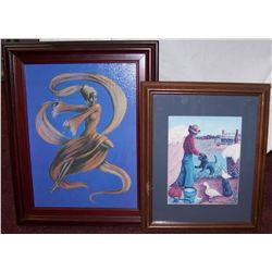 Two Framed Art Prints.