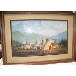 "Howard Terpning ""CROW CAMP 1864""  Custom Framed Limited Edition of 1000"