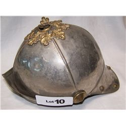 Vintage Metal Roman Solider Costume Helmet, taped inside ROSE COPPOLA
