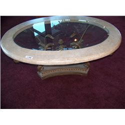 Faux Marble Glass top Coffee Table