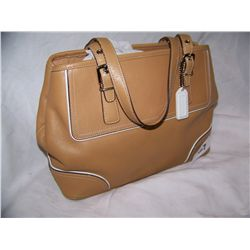 Brown COACH PURSE, NEW #J3Q-9605