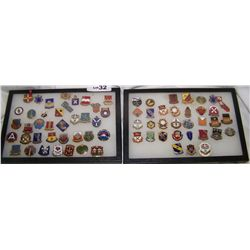 (2X$) LOT OF 2 FRAMED ASSORTED MILITARY PINS  (1) 38 (1) 33 PINS