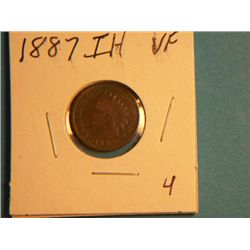 1887 INDIAN HEAD CENT