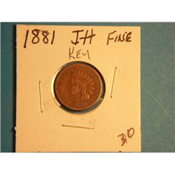 1881 INDIAN HEAD CENT
