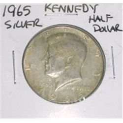 1965 Kennedy Silver Half Dollar *PLEASE LOOK AT PICTURE TO DETERMINE GRADE - NICE COIN*!!