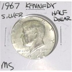 1967 Kennedy Silver Half Dollar *RARE MS HIGH GRADE - NICE COIN*!!