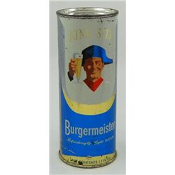 Burgermeister Flat Top Beer Can - 15 Ounce