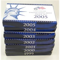 1999 - 2005  (7) U.S. Proof Sets