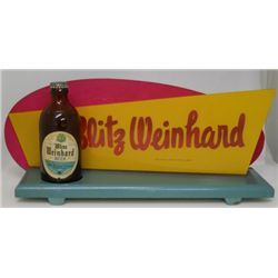Blitz Weinhard Beer Counter Top Display Sign